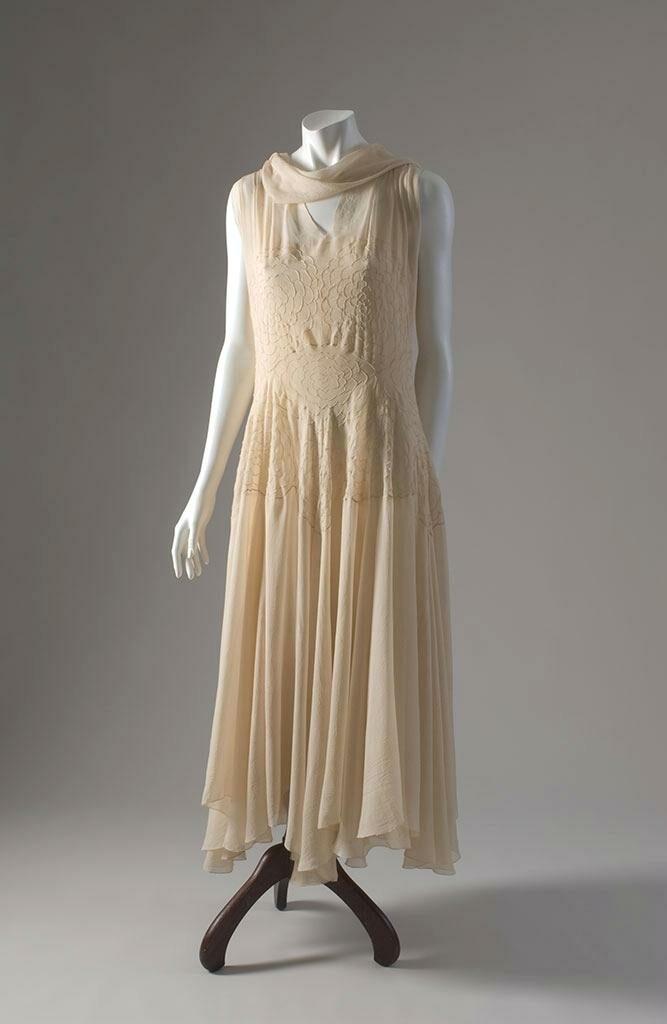שמלת קוקטייל בעיצוב מדלן ויונה, צרפת, 1930