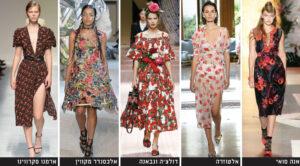 דגמים עם הדפסי פרחים קיץ 2019