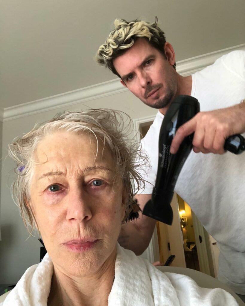 הלן מירן לפני האיפור והשיער