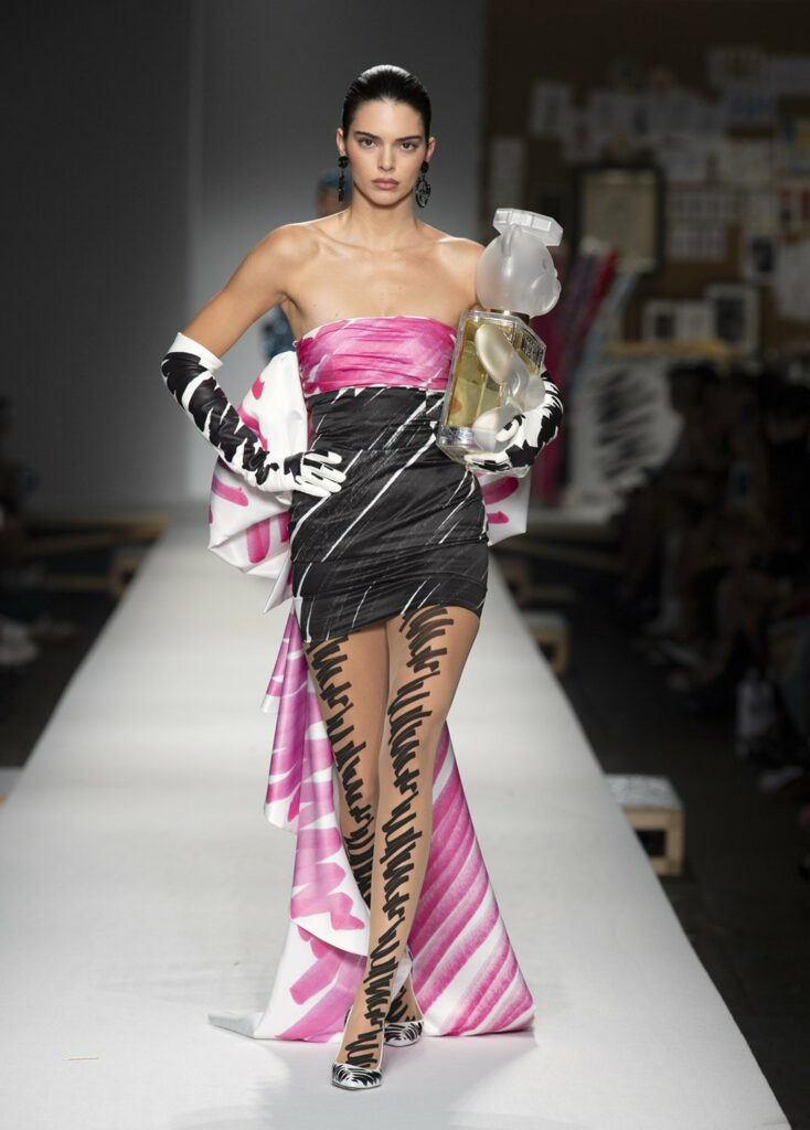 שמלת ערב בשני אורכים בשני גוונים של שרבוט