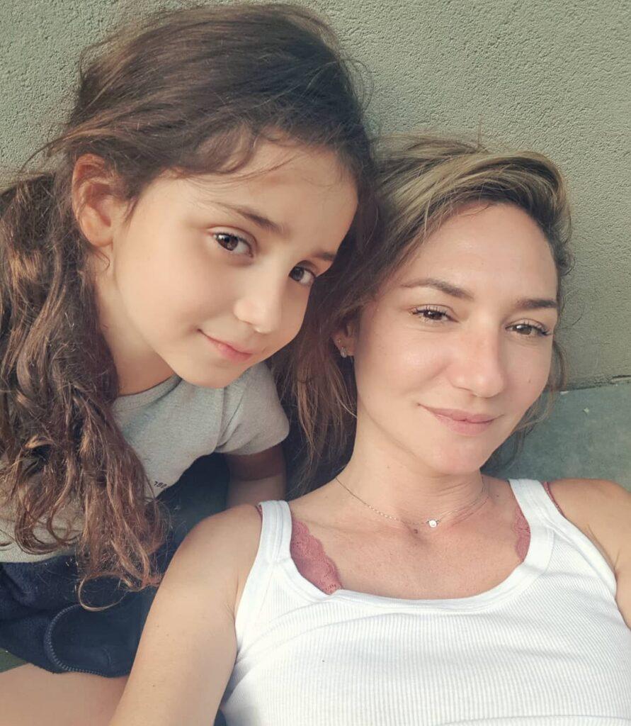 מיכל אנסקי ובתה דניאלה