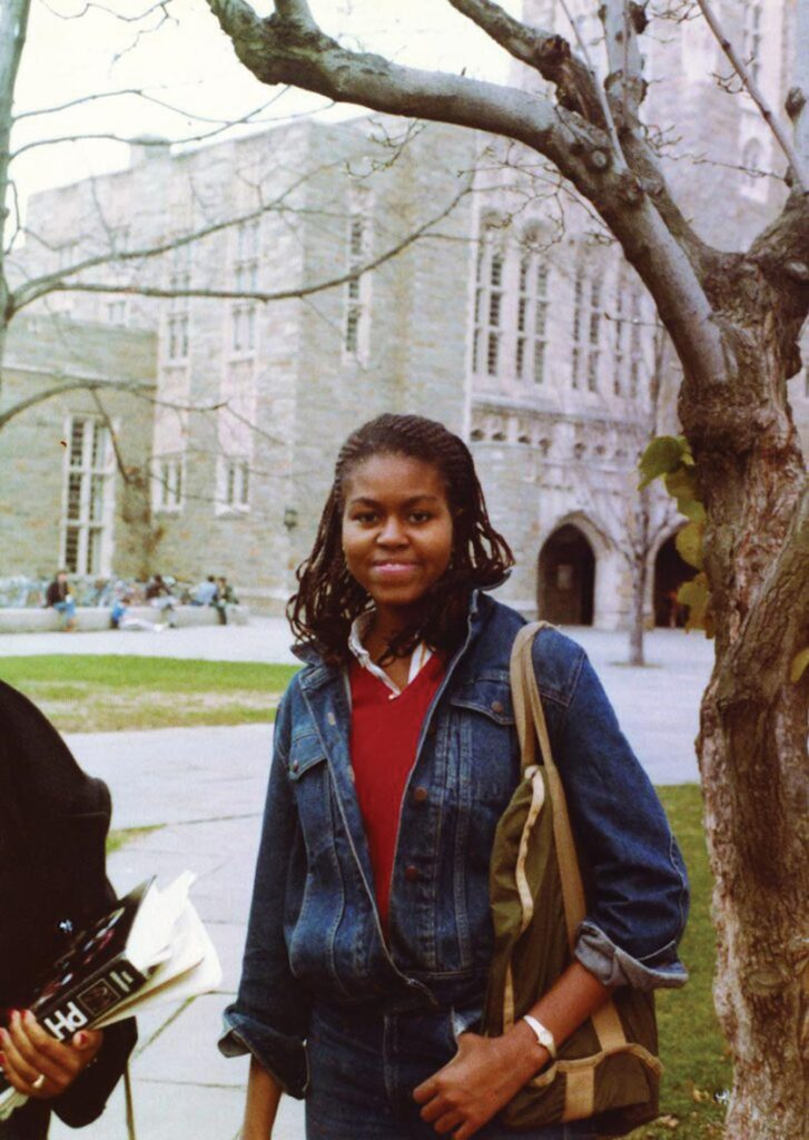 מישל אובמה בימי הלימודים בפרינסטון