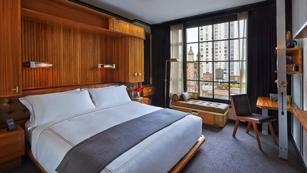 עוד חדר שינה עם נוף אורבני