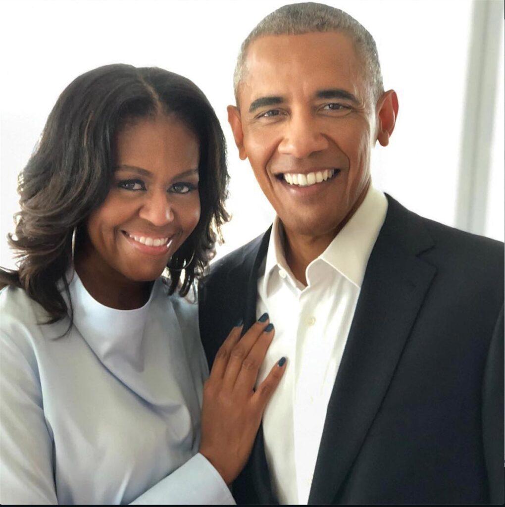 מישל וברק אובמה לאחר שעזבו את הבית הלבן