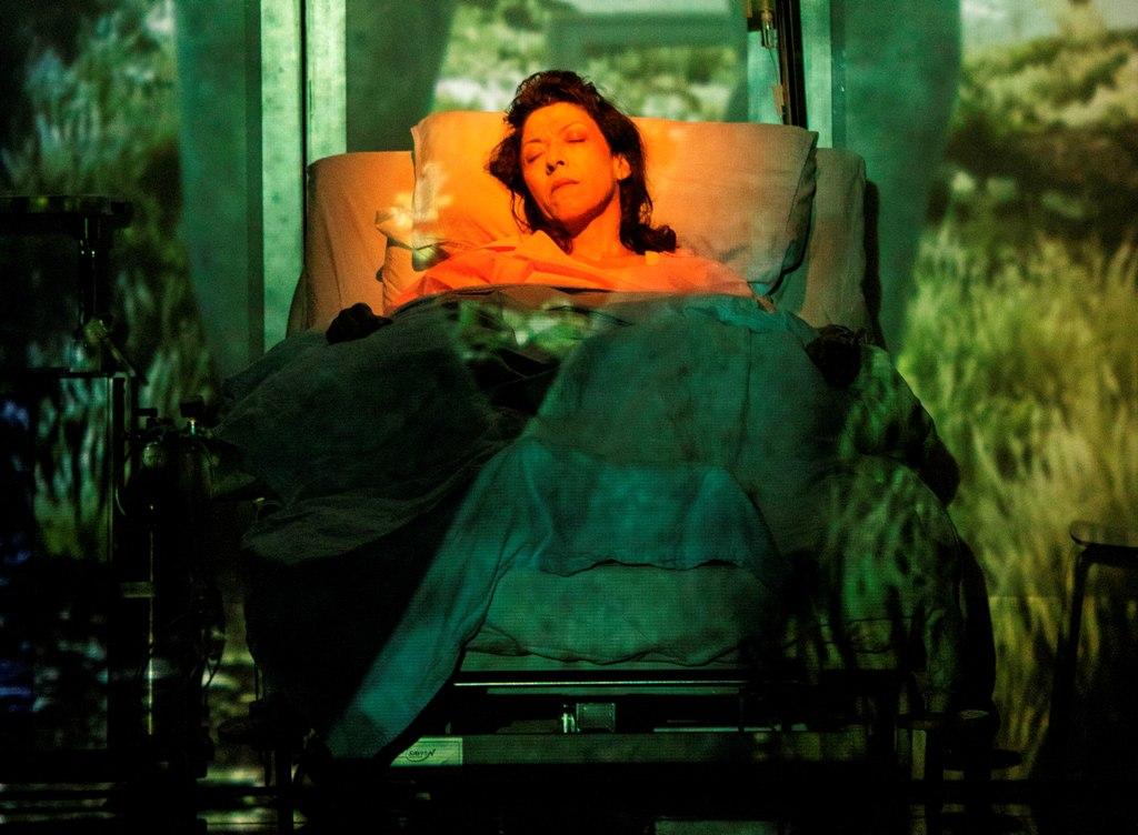אסי לוי בהצגה של מי החיים האלה