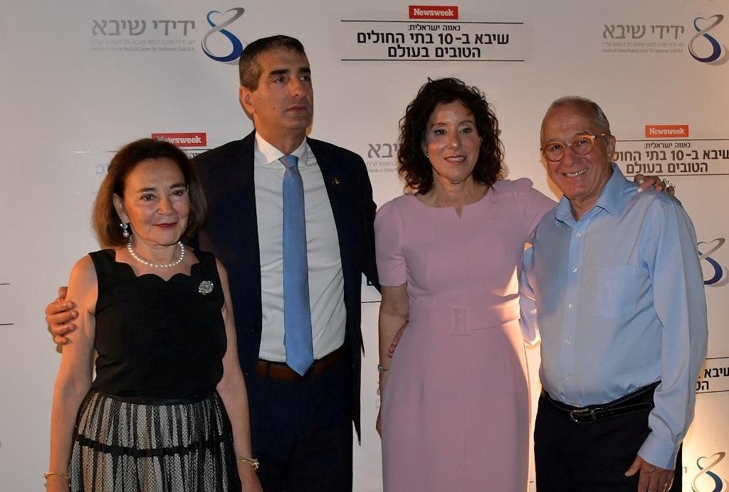 מימין לשמאל- יצחק סגול, יצחק וענבל קרייס ולינדה סגול