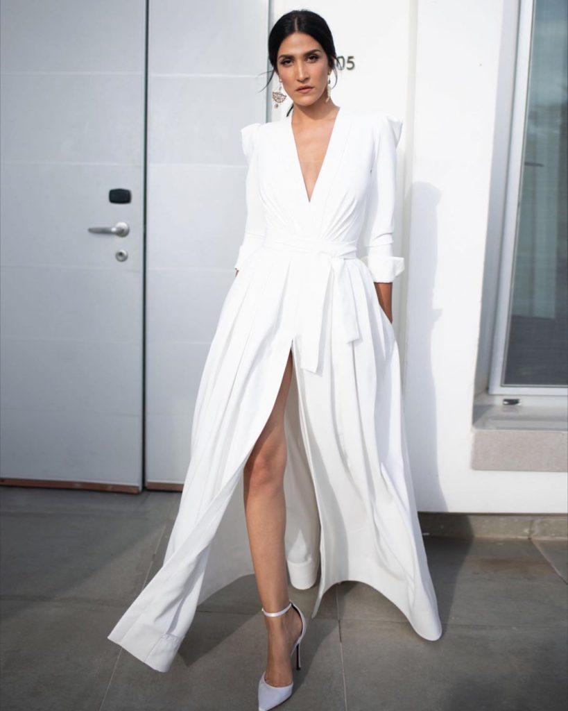 שמלת החופה של מגי אזרזר בעיצוב סטודיו חזן צוקרמן