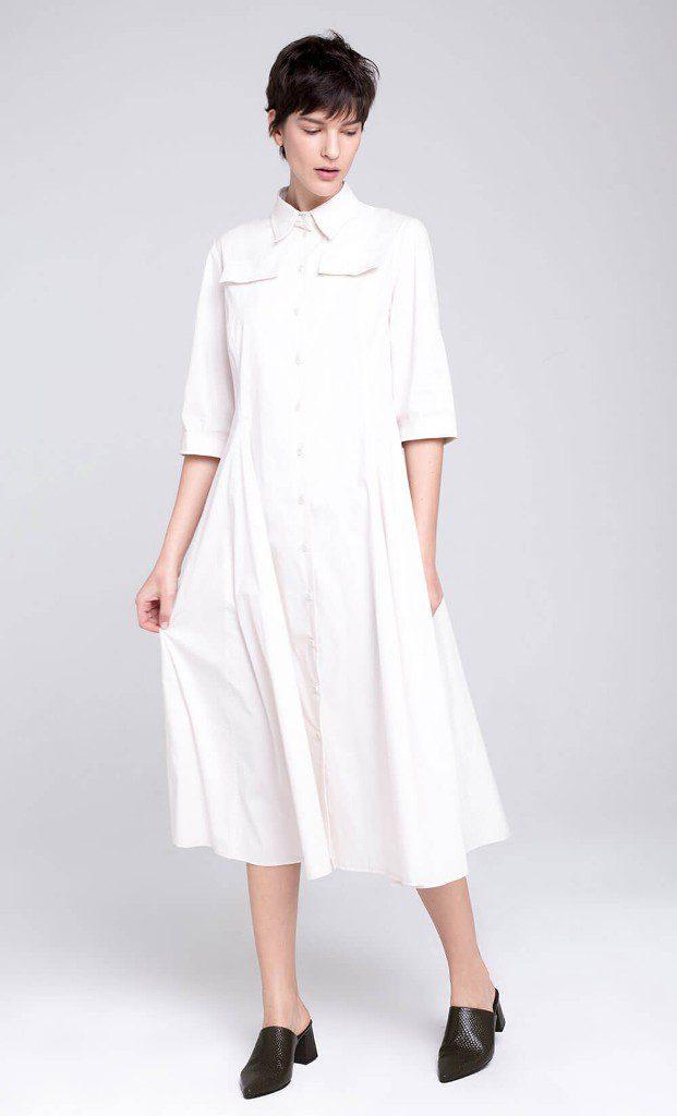 שמלה עם כיפתור לכל האורך בחזית, 790 שקל, דורין פרנקפורט