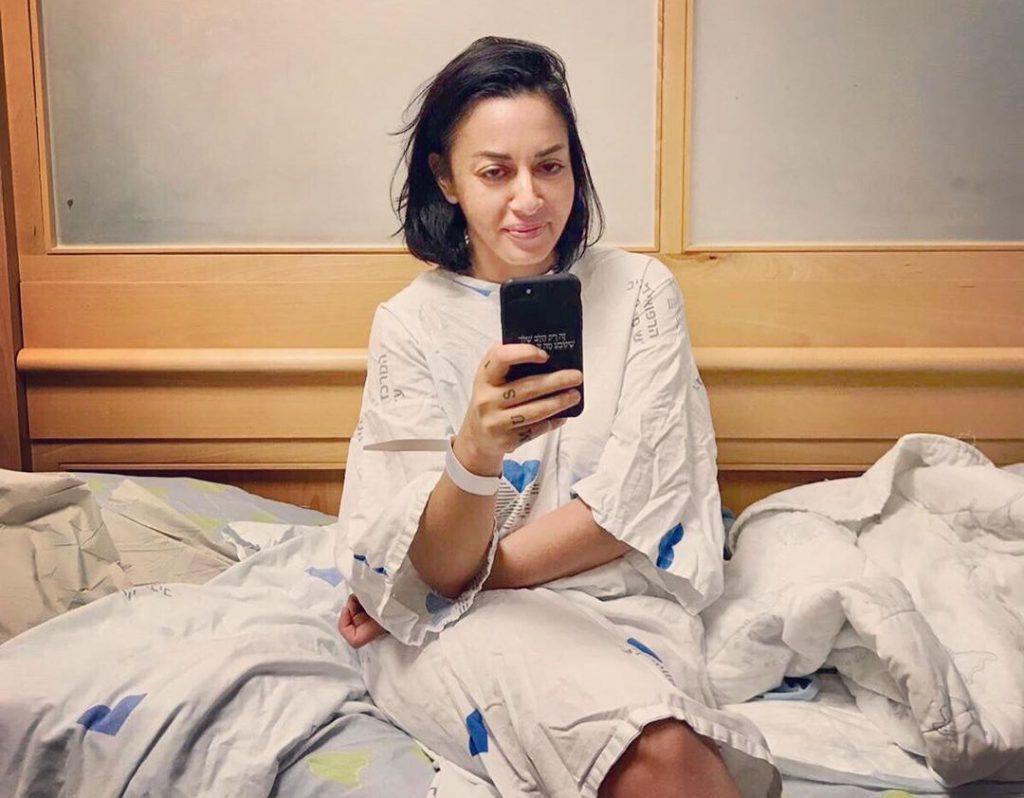 1את התמונה של מאיה בוסקילה בבית החולים צילם בן זוגה, עוזי אזולאי