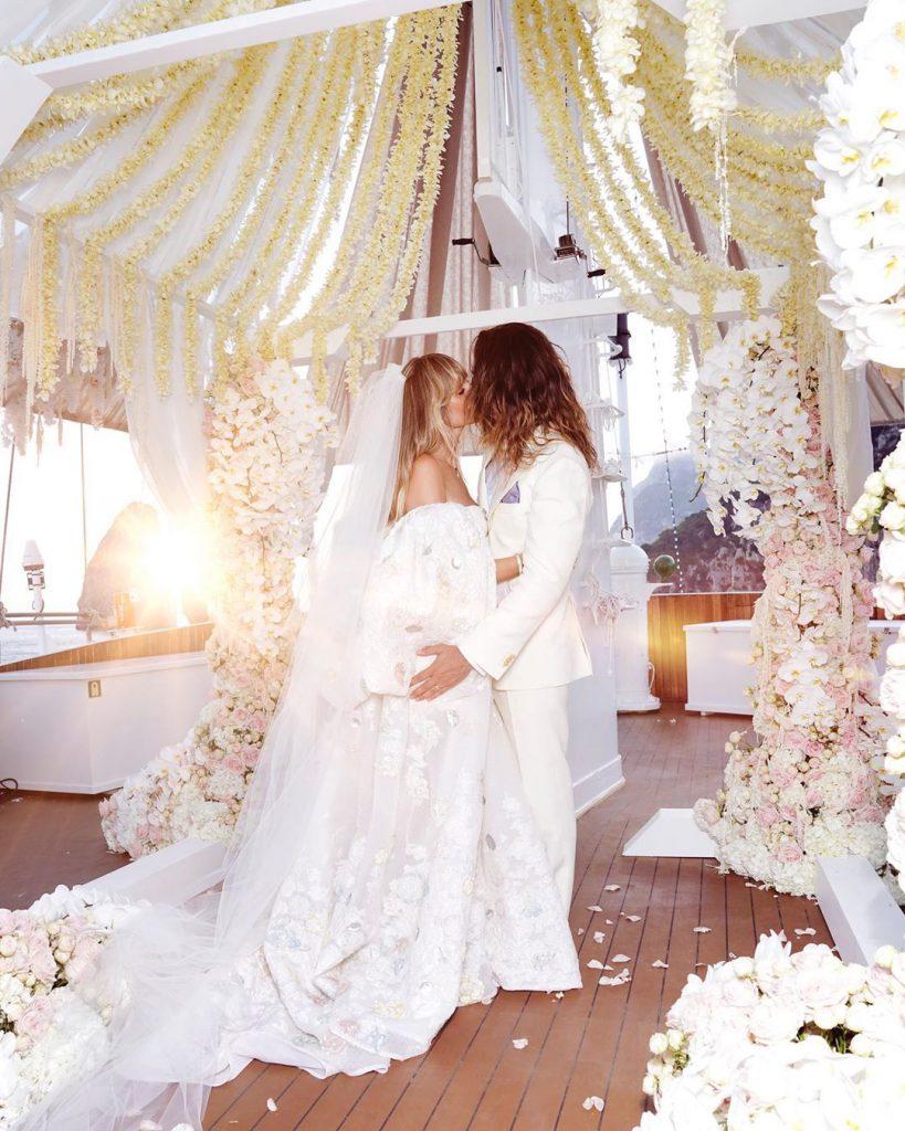 1היידי קלום התחתנה ביאכטה מול חופי אמלפי