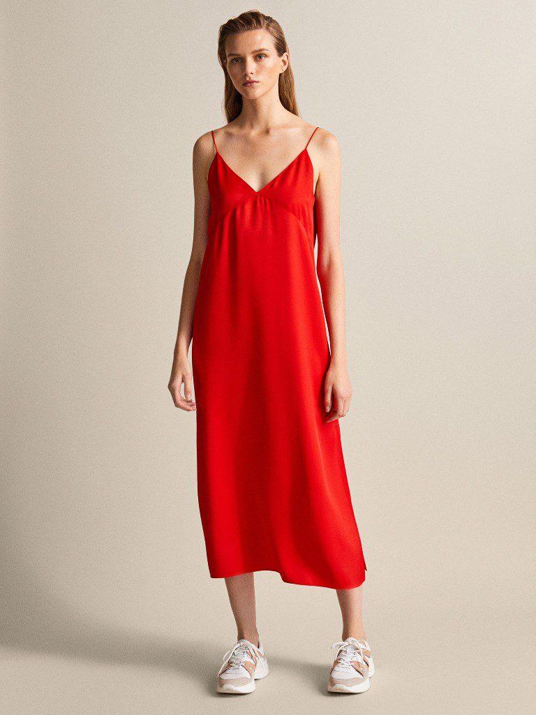 שמלת כתפיות עם מחשוף וי, 625 שקל, מסימו דוטי