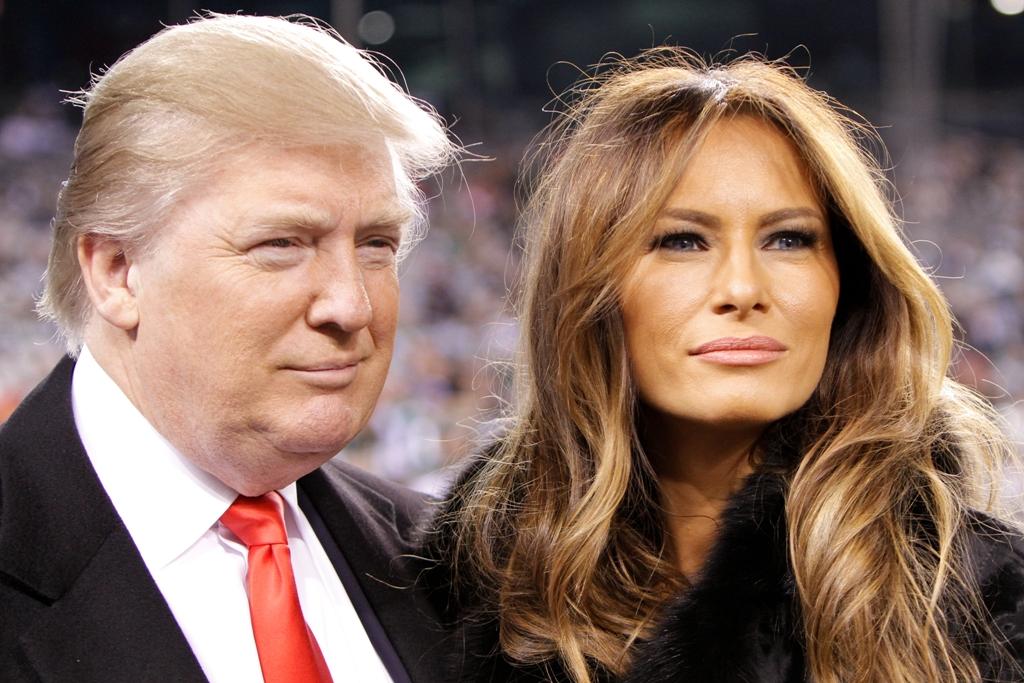 1דונלד ומלאניה טראמפ