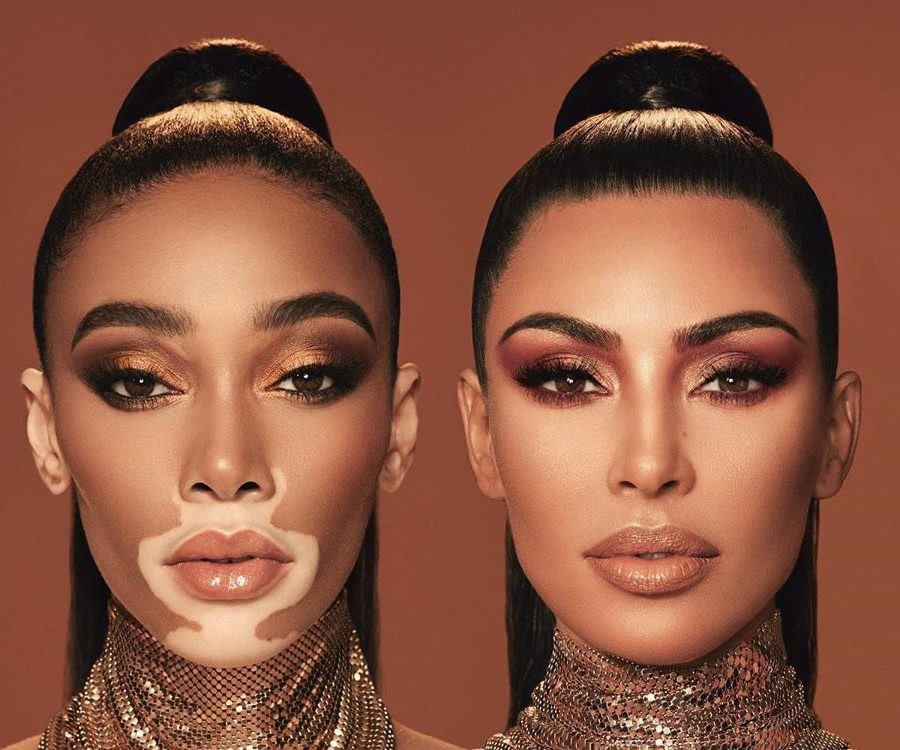 1קים קרדשיאן וויני הארלו בקמפיין לפאלטת האיפור החדשה שלהן