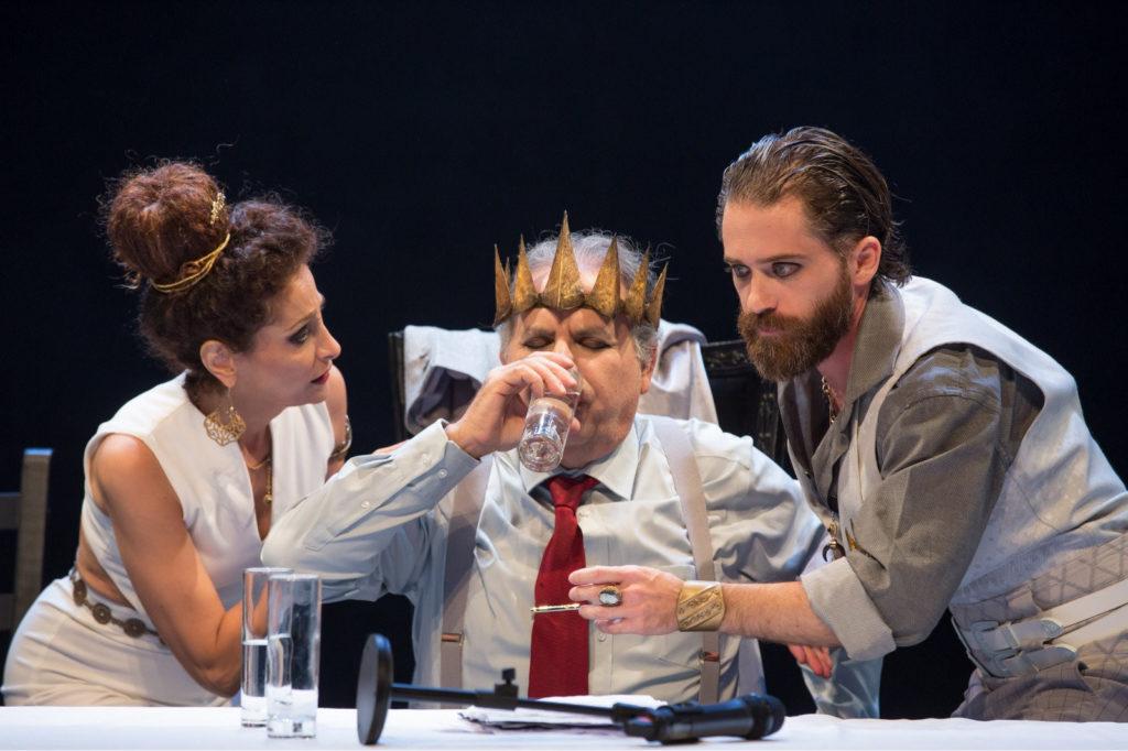 """תום אבני, נתן דטנר ואדווה עדני בהצגה """"הבא אחריו"""" ב""""תיאטרון באר-שבע"""""""