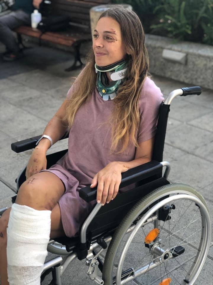 3טל יהלומי על כיסא גלגלים במהלך השיקום הארוך