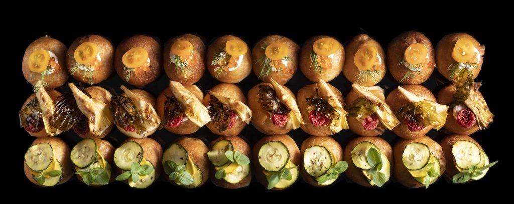 6מיגוון סופגניות מיני-מיני מלוחות של מונייר. צילום דניאל לילה