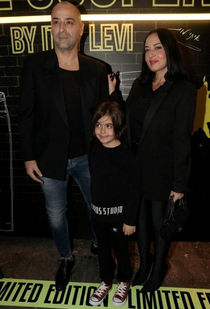 4מאיה בוסקילה עם בעלה עוזי אזולאי והבן לני צילום אמיר מאירי