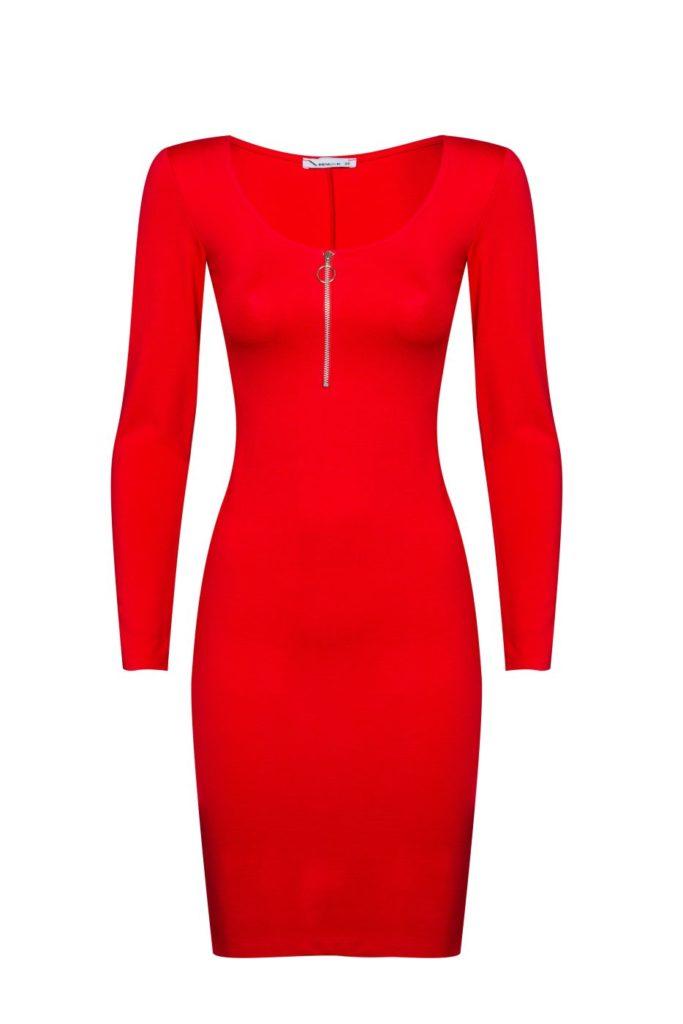 4רנואר שמלה אדומה שרוול ארוך 179.90שח צילום אלעד חיזקי