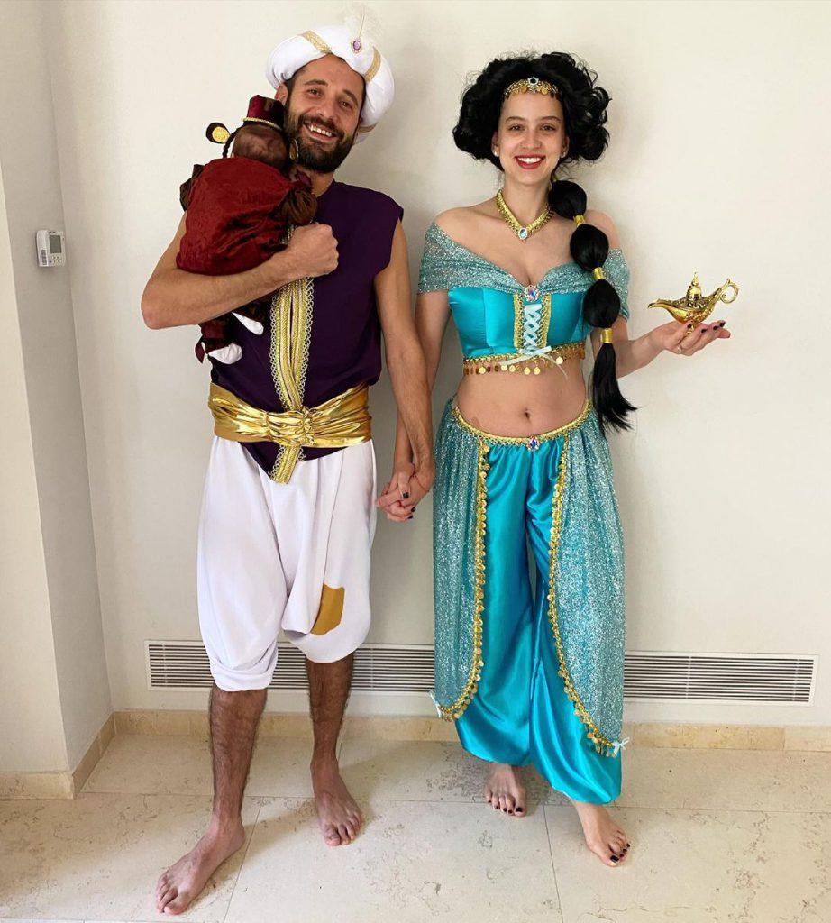 2קורין גדעון עם הבעל חילי והבת אלונה