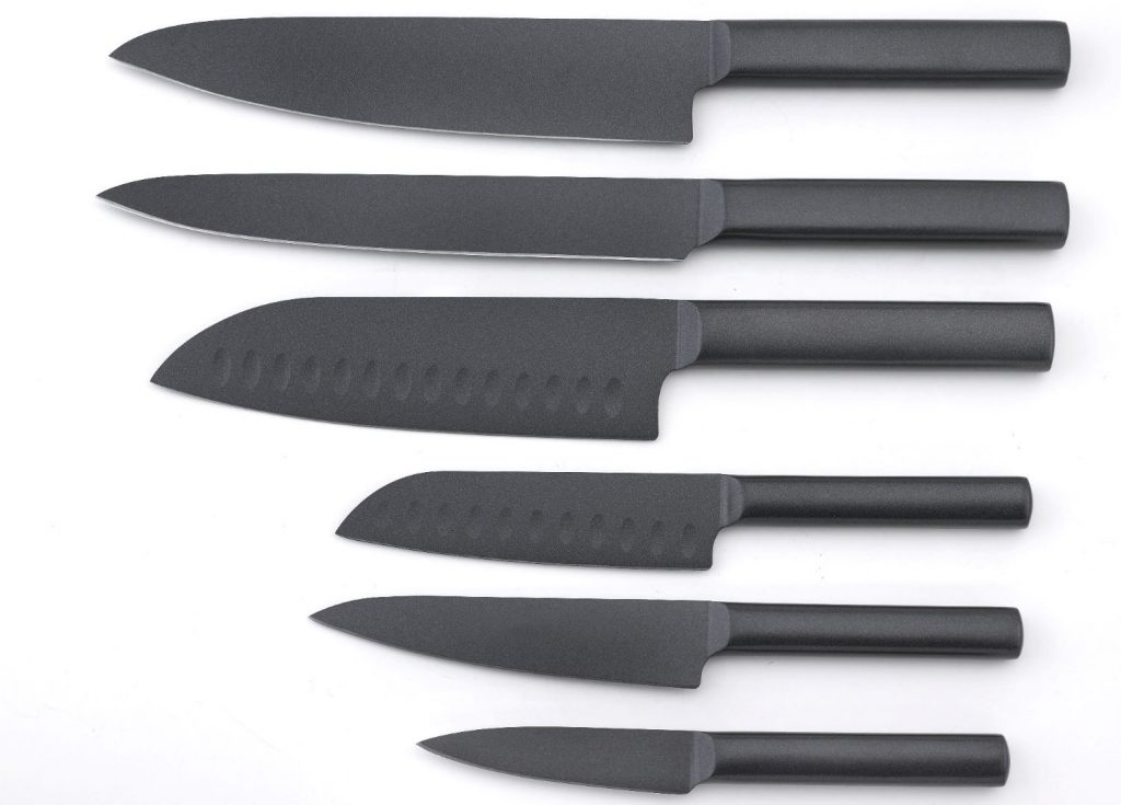 4סדרת סכיני סמוראי שחור של סולתם