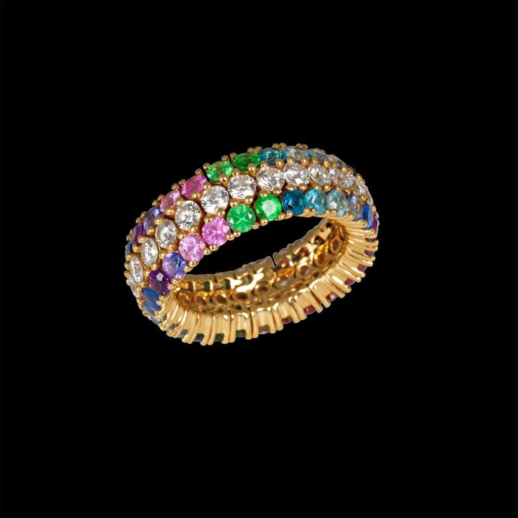 8טבעת צבעונית