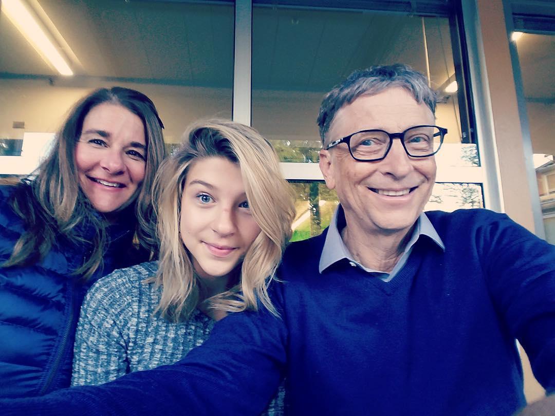 1מלינדה וביל גייטס עם בתם הצעירה פיבי